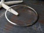 Squared Bangle Bracelet Handcrafted in Sterling Silver