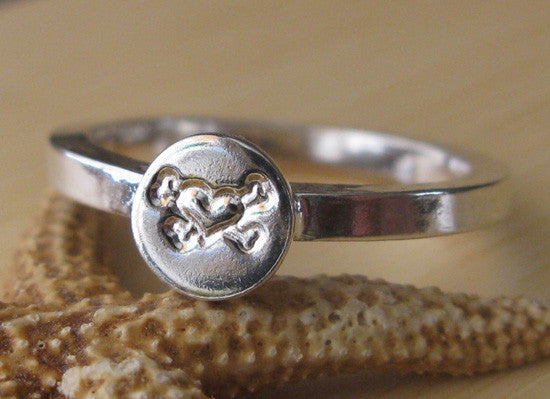 Stamped Sterling Silver Stacking Ring
