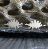 Dinosaur Stegosaurus Stud Earrings