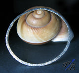 Sterling Silver Bangle Bracelet Artisan Handmade Hammered Design