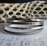 Sterling Silver Bangle Bracelet Set Handcrafted