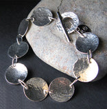 Hammered Disc Bracelet