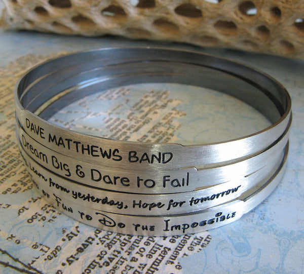 Sterling Silver Bangle Personalized Bracelet handmade jewelry