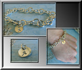 Tiffany Style Chain Link Bracelet.  Sterling Silver Artisan Handmade