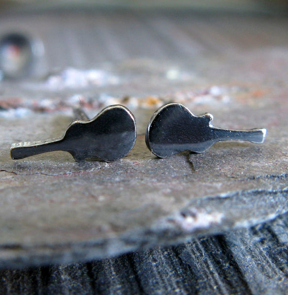 Electric Guitar Stud Earrings