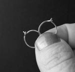 Tiny Sterling Silver Thin Hoop Sleeper Earrings