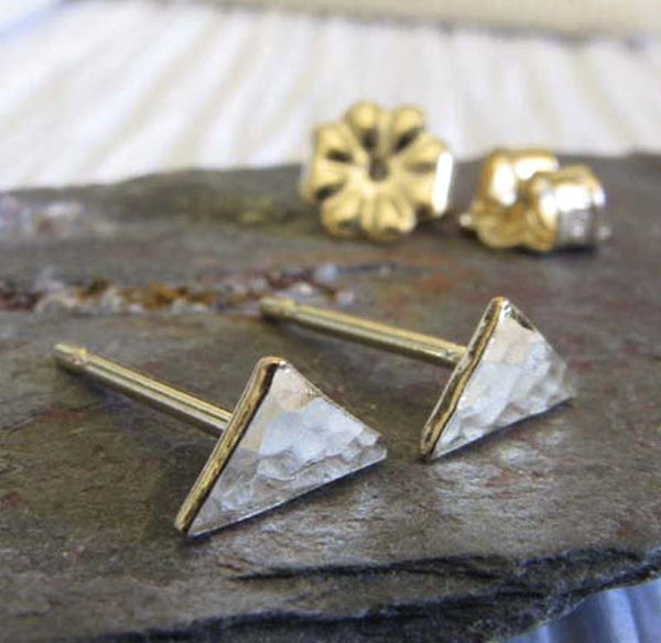 Triangle Tiny Minimalist Geometric Stud Earrings