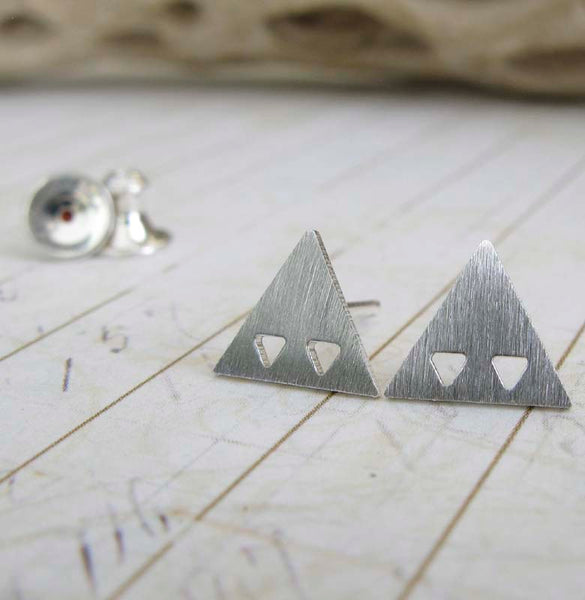 Triangles in Triangle Stud Earrings