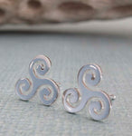 Triskele Stud Earrings