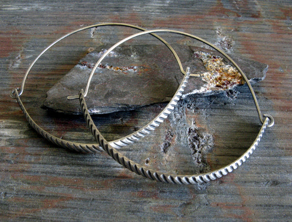 Large Pattern Hoop Earrings