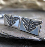 Navy United States Military jewelry. Sterling silver stud earrings handmade in the USA.