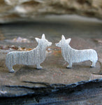 Welsh Pembroke Corgi Dog Stud Earrings