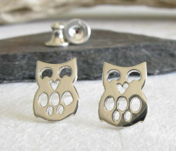 Wise Owl Sterling Silver Stud Earrings