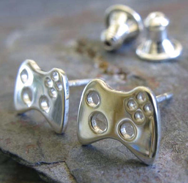Xbox Controller Gamer Stud Earrings ~ Sterling Silver
