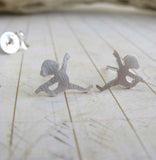 Yoga Dancer Stud Earrings