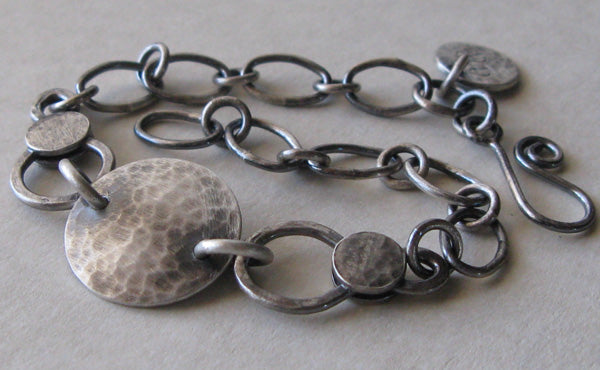 Babalu Antiqued Sterling Silver Bracelet