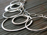 Bold statement rings necklace handmade in sterling silver