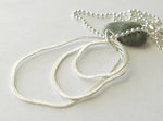 Organic sterling silver pendant necklace free form handmade jewelry