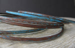 Set of Copper Verdigris Patina Bangle Bracelet