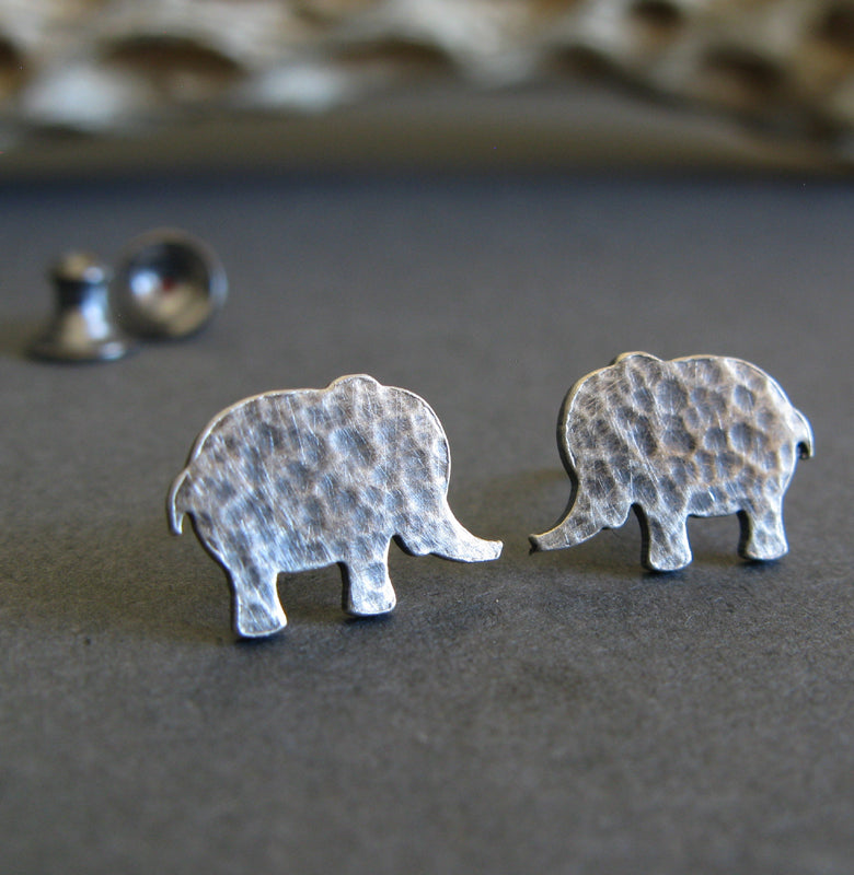 s boho claire elephant silver sterling stud earrings