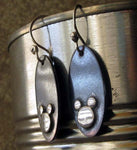 Disney Hidden Mickey Dangle Earrings sterling silver and blackened copper