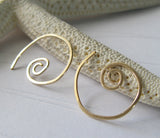 Tiny Spiral Wirework Earrings
