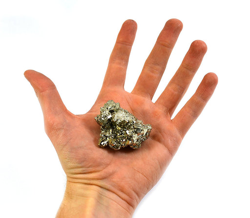 "Crystalline Pyrite, Approximately 1.5""-2"" Length, 2-10mm Crystals, Single Piece"