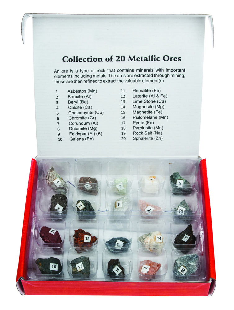 Set of Metallic Ores - Set of 20