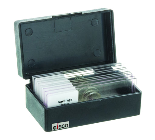 EISCO Slide Box, Polystyrene, 10 Slides