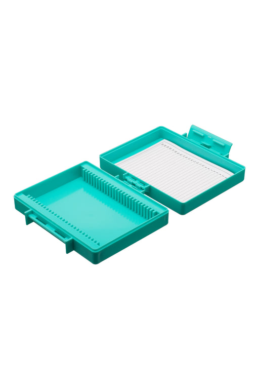 Slide Box with Hinged Cover, 25 Slide Capacity - Polystyrene