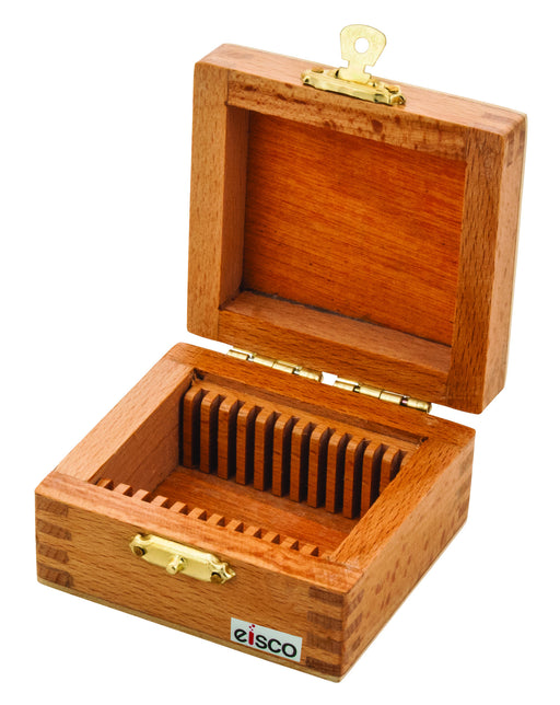 Slide Box Wooden for 12 slides for Geological slides
