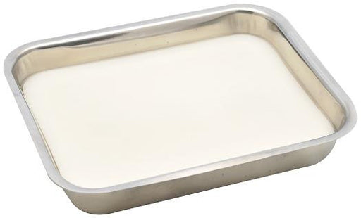 Dissecting Tray, S.Steel with wax,  Size : 35x25cm