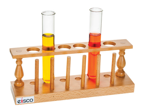 Test Tube Stand, Hardwood, with Drying Pins