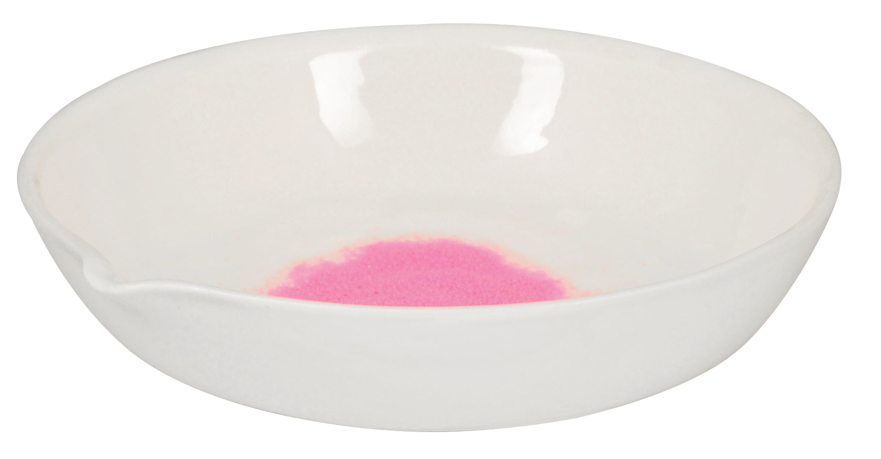 Basin Evaporating - Porcelain, flat form with spout, 100 ml