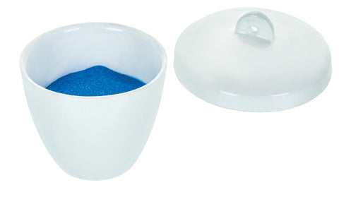 Porcelain Crucible with Lid, Tall Form, 30mL Capacity