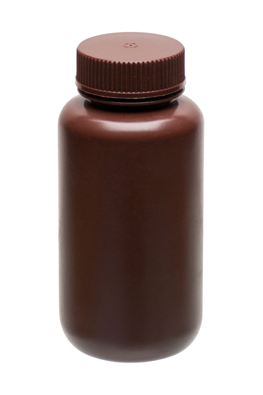 Reagent Bottle, 250ml Wide Mouth - HDPE - Amber Color