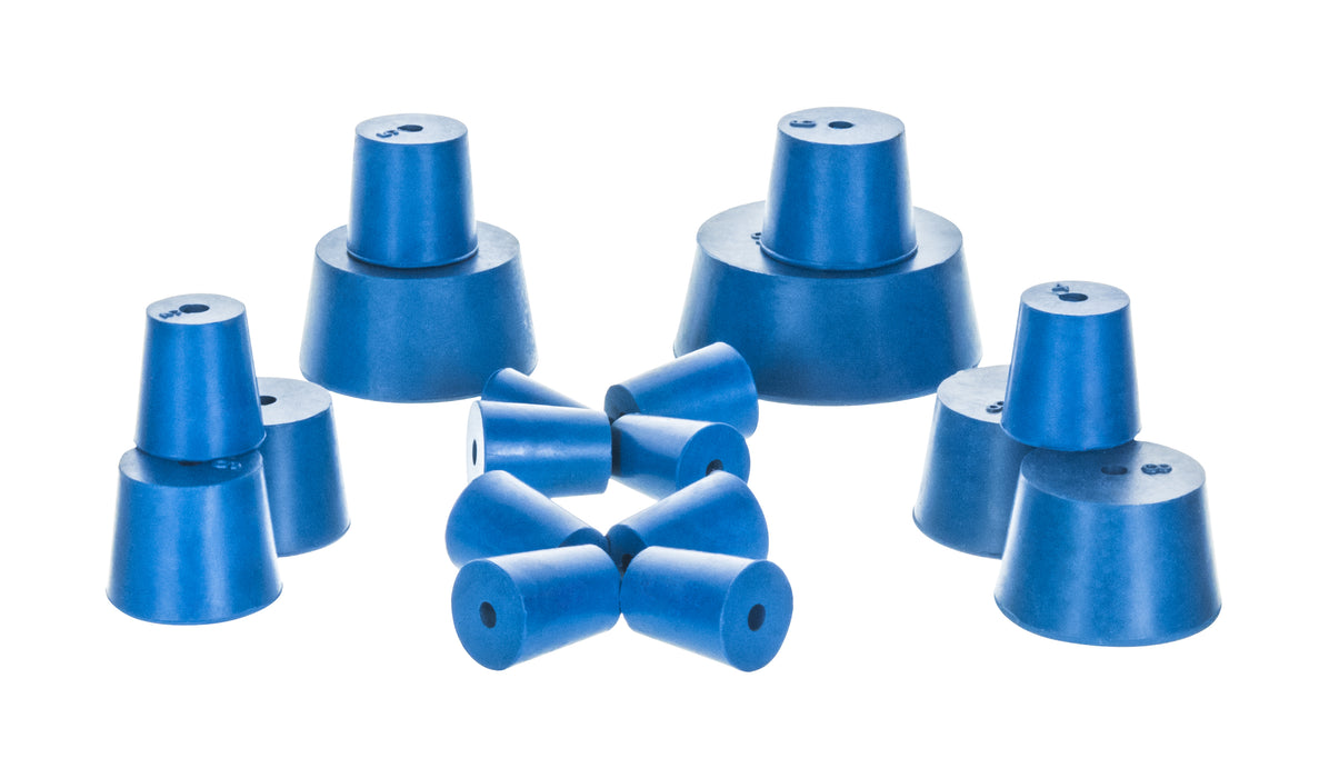 NEOPRENE STOPPERS - ONE HOLE BOTTOM 33MM, TOP 38MM, LENGTH 38MM