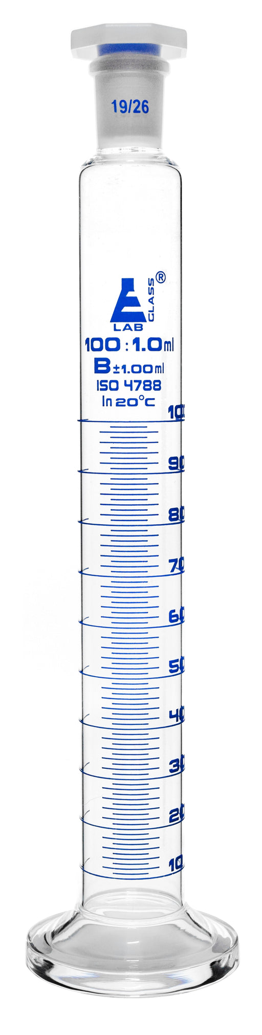 Cylinder Measuring Graduated with Stopper, Class 'B'-100ml