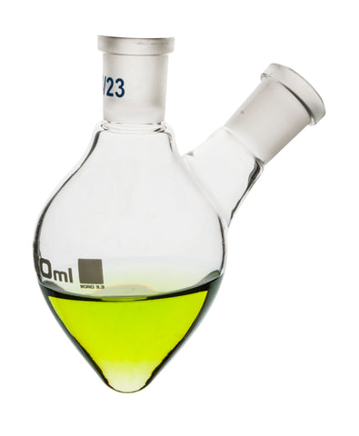 Flask Boiling - Pear Shape, Two Neck, 50 ml