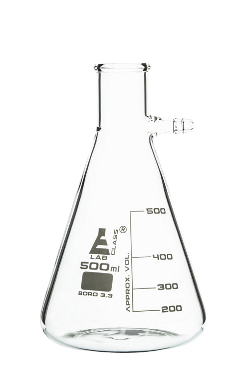 Flask Filtering 500 ml, Conical, with integral side arm