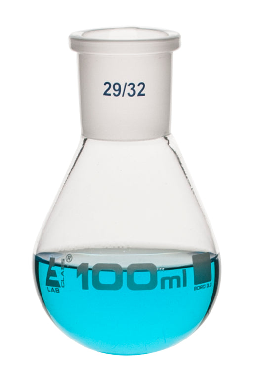 Evaporating Flask, 100ml - 24/29 Interchangeable Joint - Borosilicate Glass - Eisco Labs