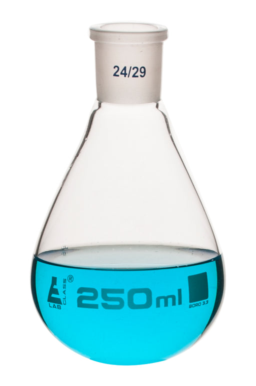 Evaporating Flask, 250ml - 24/29 Interchangeable Joint - Borosilicate Glass - Eisco Labs