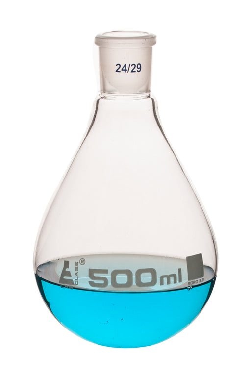 Evaporating Flask, 500ml - 24/29 Interchangeable Joint - Borosilicate Glass - Eisco Labs