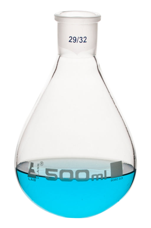 Evaporating Flask, 500ml - 29/32 Interchangeable Joint - Borosilicate Glass - Eisco Labs
