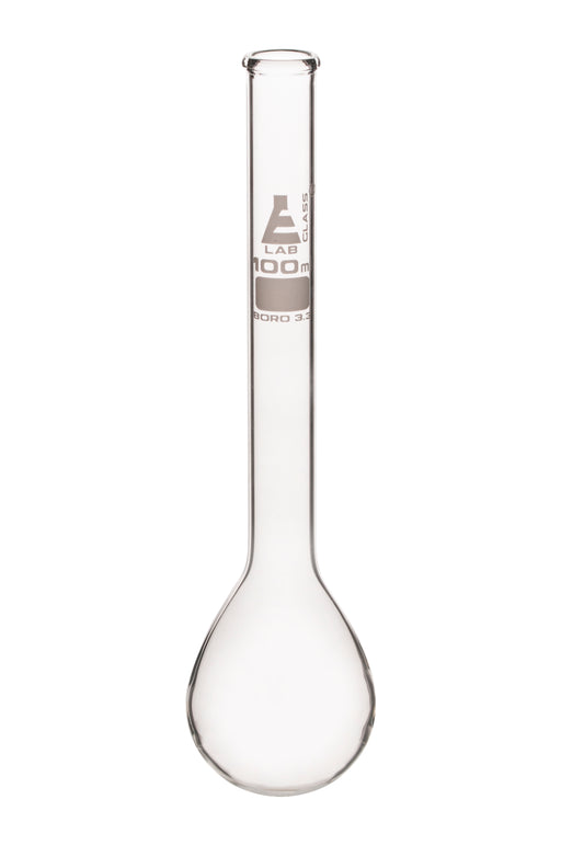 Kjeldahl Flask, 100ml - Borosilicate Glass - Long Neck, Round Bottom - Eisco Labs