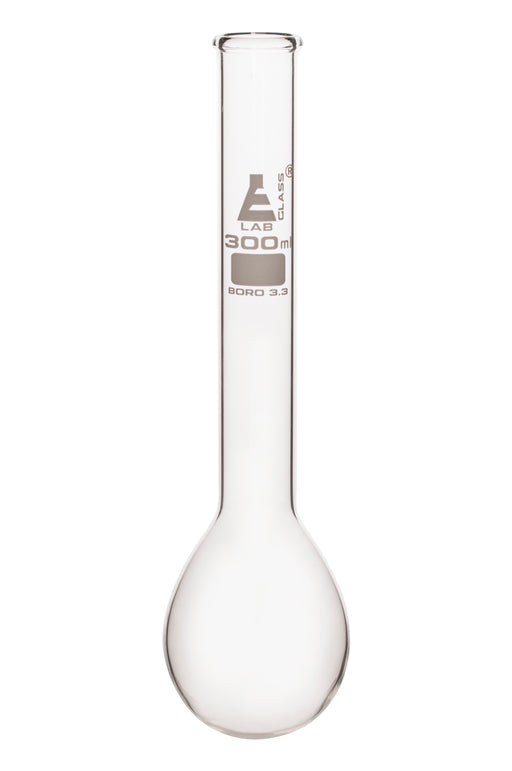 Kjeldahl Flask, 300ml - Borosilicate Glass - Long Neck, Round Bottom - Eisco Labs