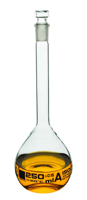 Flasks Volumetric with Hollow Stopper Class - A, 500 ml, White Graduation