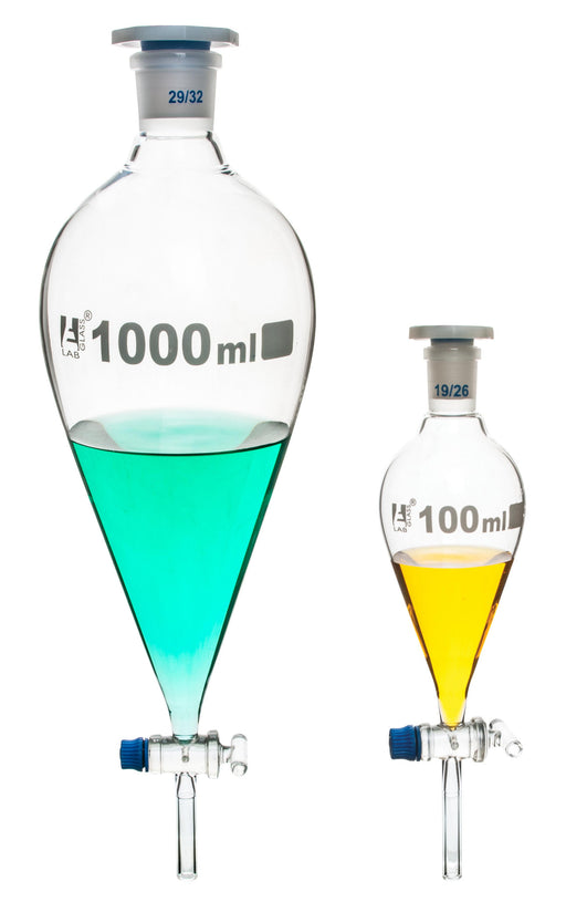 Funnel Separating - Squibb, Glass Stopcock, 1000 ml, Graduated