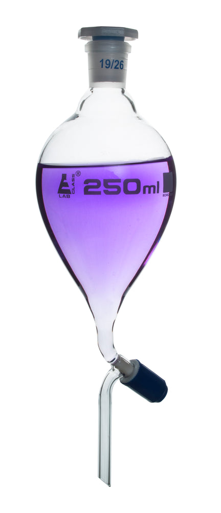 Funnel Separating - Pear shaped, Rotaflow stopcock, 250ml