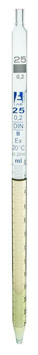 Pipettes Serological - Class B, 25 ml, White Graduation